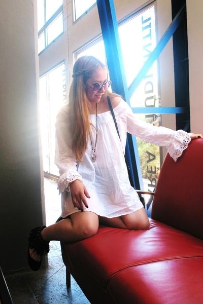 Zara blouse - Zara shoes - MNG purse