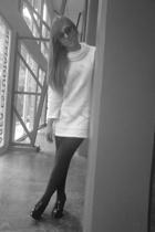 MNG glasses - Fabrics of France sweater - Zara leggings - Alex Marianne shoes