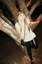 shirt - MNG purse - Zara leggings