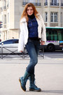 Teal-dr-martens-boots-navy-random-jeans-blue-perfecto-vintage-jacket-white