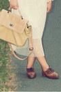 Nude-sheer-auburn-ginger-shirt-beige-bow-boater-random-hat