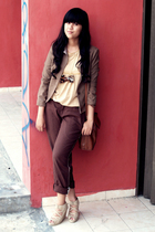 Thrift Store jacket - Friday to Sunday blouse - Cosmic Girl pants - Local Boutiq