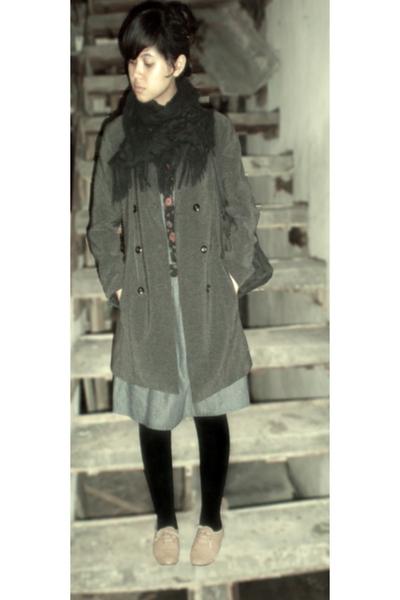 vintage dress - moms closet blazer - moms closet scarf - Local store tights - vi