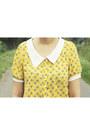 Yellow-night-owl-tideshe-blouse-dark-brown-primark-bag