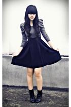 black asymmetrical Topshop Boutique skirt - black Topshop boots
