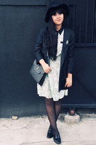 Topshop hat - gingerbread man asos dress - River Island blazer