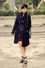 Black-vintage-coat-gray-thrift-store-vest-gray-h-m-dress-black-topshop-ski
