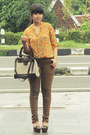 Mustard-noona-blouse-light-brown-biker-skinny-topshop-jeans