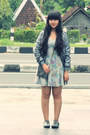 Heather-gray-floral-skater-topshop-dress-charcoal-gray-zara-jacket