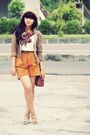 Beige-thrift-store-jacket-white-thrift-store-shirt-orange-vintage-shorts-b