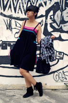 Body & Soul dress - random store top - Dloops shirt - vintage purse - Custom-mad
