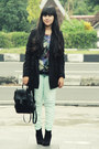 Black-asos-boots-black-cotton-trench-zara-coat
