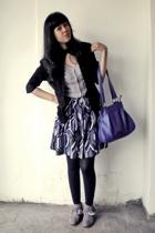 moms closet blazer - Local Boutique blouse - Forever21 skirt - Local Boutique ti
