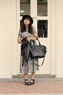 Black-milanoo-boots-heather-gray-asos-dress-black-felt-boater-asos-hat