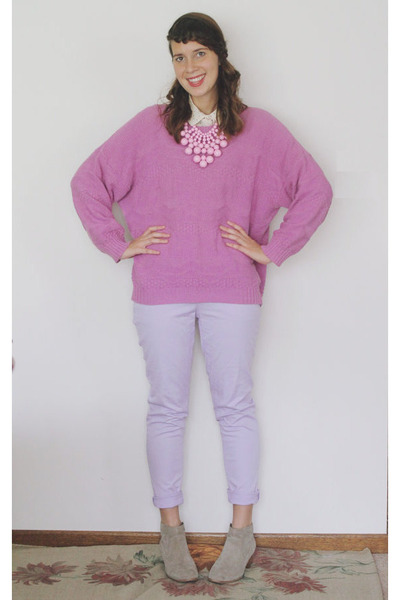 bubble gum vintage sweater