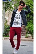 brick red Zara jeans