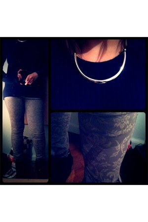 Promod jeans - New Yorker sweater - New Yorker necklace - Steve Madden sneakers