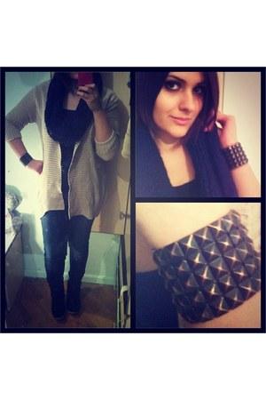 Steve Madden sneakers - Promod jeans - jennyfer scarf - Forever 21 bracelet