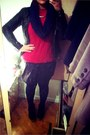 Promod-jacket-zara-sweater-new-yorker-scarf-oggi-skirt
