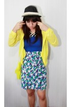Floral skirt skirt - cardigan jacket