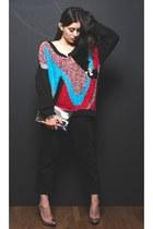 black Nasty Gal sweater - black Levis jeans