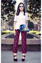 mokulua pouch Samudra bag - prints Miu Miu pants