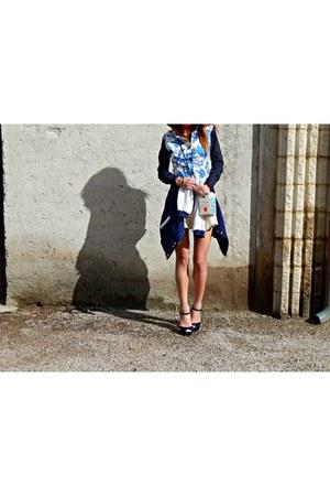 Camixa blouse - Romwecom bag - PERSUNMALL skirt