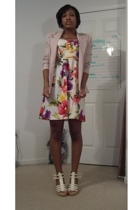 blazer - XOXO dress - Classified shoes