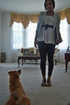 blazer - shirt - Target leggings - Target shoes - belt