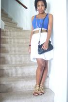 jockey t-shirt - handmade skirt - shoes - accessories