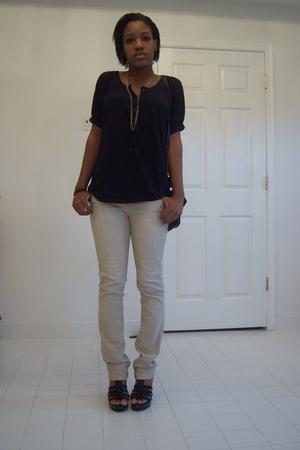 J Crew shirt - jeans - Classified shoes - purse