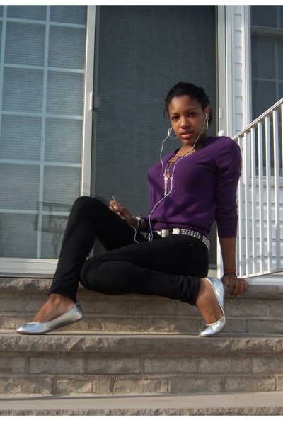 J Crew sweater - belt - Kill City pants - Charlotte Russe shoes