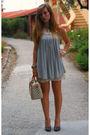 Silver-bershka-dress