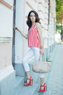 Red-striped-h-m-top-white-stradivarius-jeans-michael-kors-watch