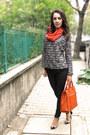 Carrot-orange-cashmere-scarf-carrot-orange-david-jones-bag