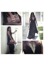 Pink Wasabi Boutique necklace - Forever 21 dress - Valentino bag - YSL pumps
