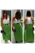 Michael Kors skirt - Zac Posen bag - Ray Ban sunglasses - Agacistores top