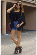 Shoedazzle boots - calvin klein shorts - Ray Ban sunglasses