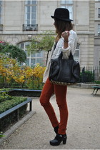 orange Zara pants