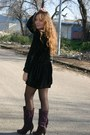 Purple-marypaz-boots-black-i-did-it-dress