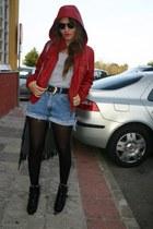 no brand jacket - no brand vintage shorts - BLANCO boots