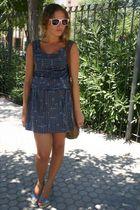 blue vintage dress - blue BLANCO shoes