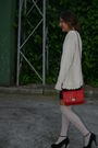 Black-lefties-dress-beige-calcedonia-socks-black-blanco-shoes-red-pull-bea