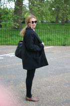 black oh my love coat - burnt orange Primark shoes - black Primark leggings