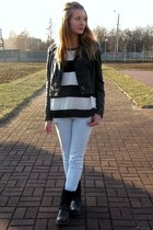 H&M jacket - Tally Weijl jeans - H&M sweater