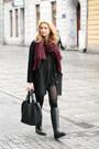 Black-labotti-boots-black-second-hand-dress-black-tally-weijl-coat