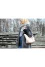Heather-gray-second-hand-coat-light-pink-michael-kors-bag