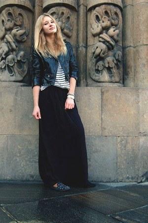 H&M jacket - H&M t-shirt - new look skirt - Glitter accessories