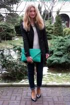 Amisu coat - reserved sweater - Glitter bag - Zara heels