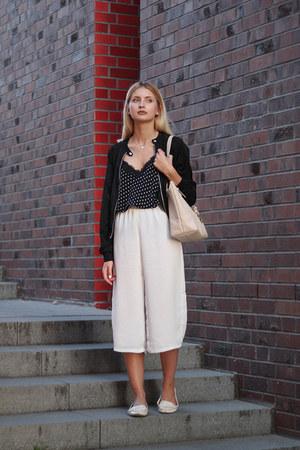 white Zara shoes - black Dorothy Perkins jacket - light pink Michael Kors bag